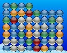 Ряды разноцветных шариков