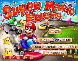 Марио в увлекательной гонке
