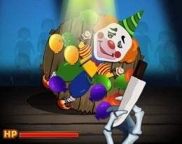 Бросок ножа в клоуна