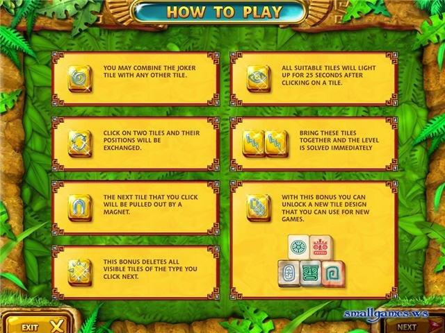 Скачать, бесплатно, мини, игра, Маджонг. . Золото майя, Mahjongg Ancient M