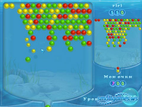 Волшебные пузыри Три в ряд играть онлайн