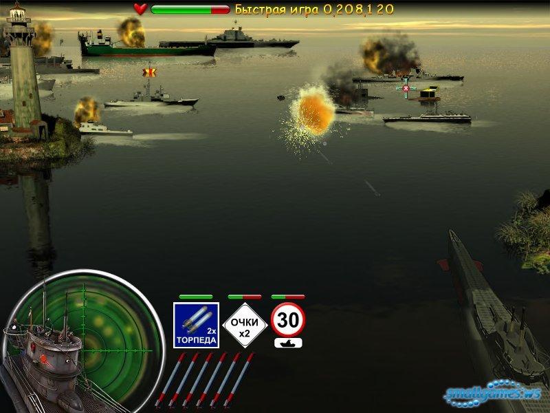 как зайти в бой на подводной лодке