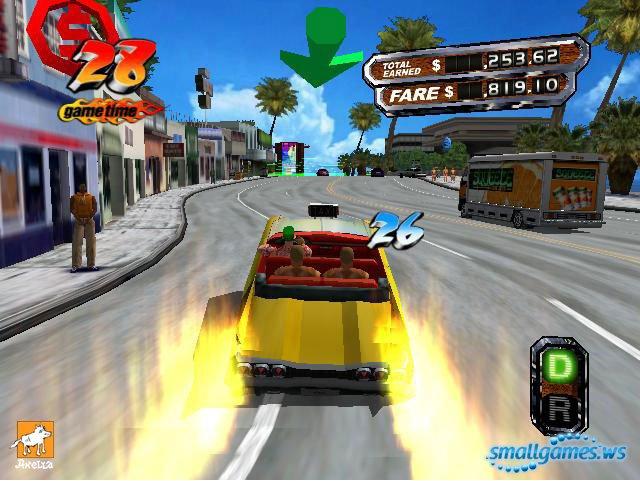 играть онлайн безумный таксист