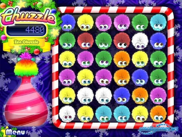 игра мохнатые шарики chuzzle deluxe играть онлайн - фото 8