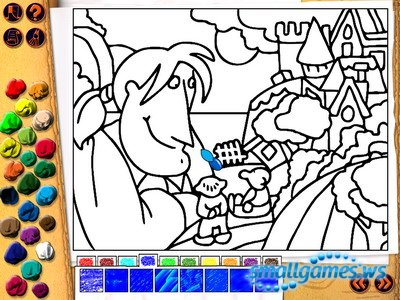 Гулливер и раскраска для детей 6-11 лет