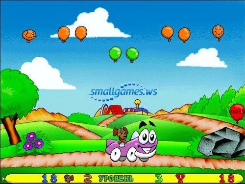 Автомобильчик Бип-Бип и полёты на воздушных шариках