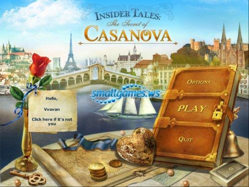 Insider Tales - The Secret of Casanova