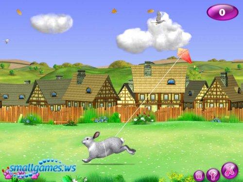 Живой уголок. Играем с крольчатами