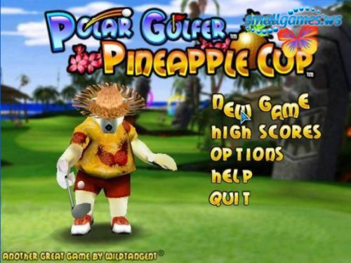 Polar Golfer Pineapple Cup