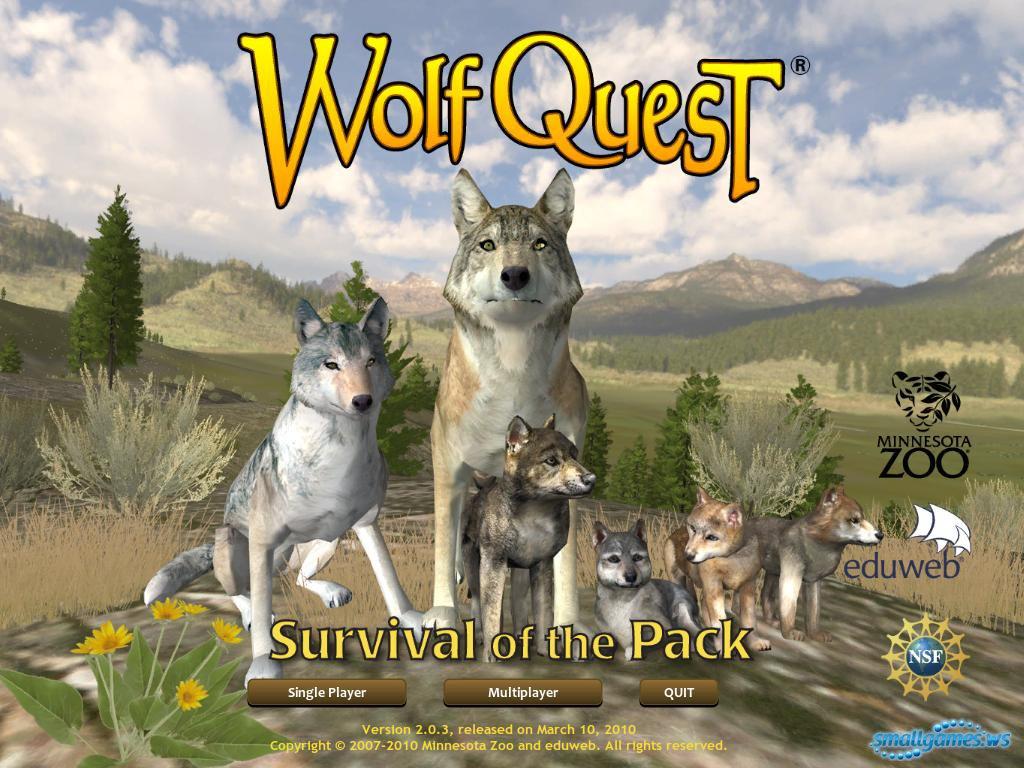 скачать игру Wolfquest и Wolfquest Survival Of The Pack img-1