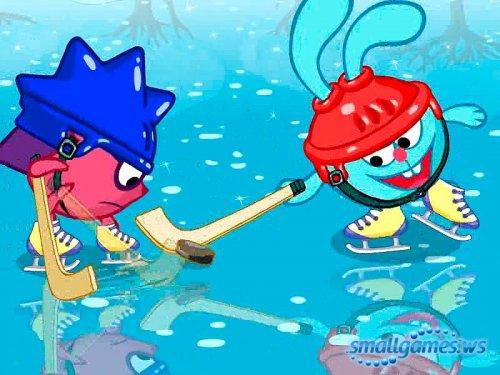Смешарики. Зимние игры со Смешариками.