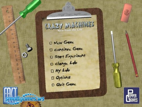 Crazy Machines: New from the Lab