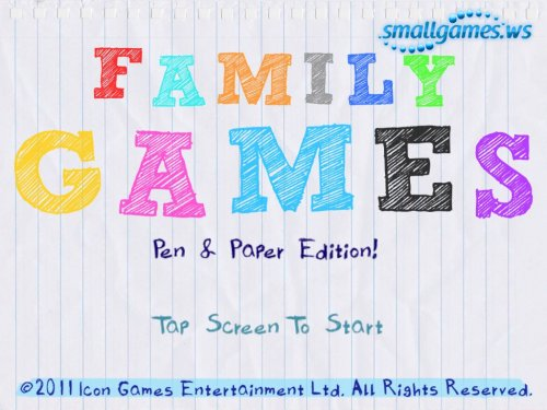 Family Games – Pen and Paper Edition