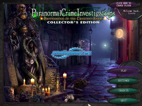 Paranormal Crime Investigations: Brotherhood of the Crescent Snake Collectors Edition