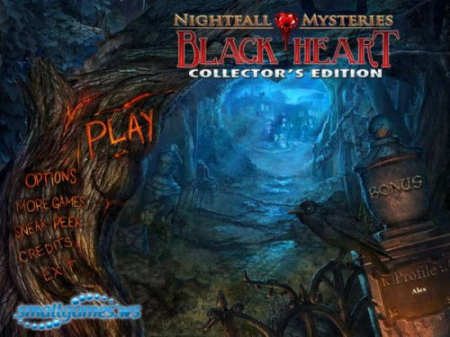 Nightfall Mysteries 3: Black Heart Collectors Edition