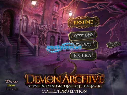 Demon Archive: The Adventure of Derek Collectors Edition