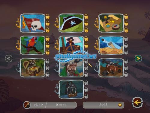 Мозаика Пазл Пираты: Сокровища Карибского моря