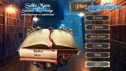 Sable Maze 6: Sinister Knowledge Collectors Edition