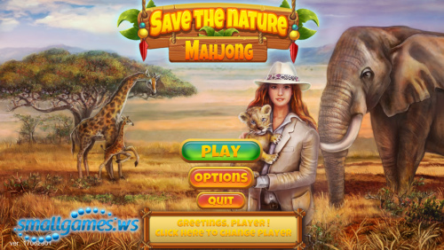 Save the Nature: Mahjong
