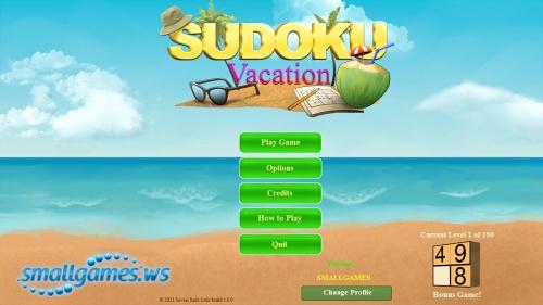 Sudoku: Vacation