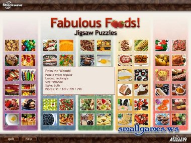 Jigsaw Puzzles: Fabulous Foods